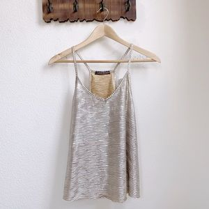 Happening In The Present | Gold Textured Tank